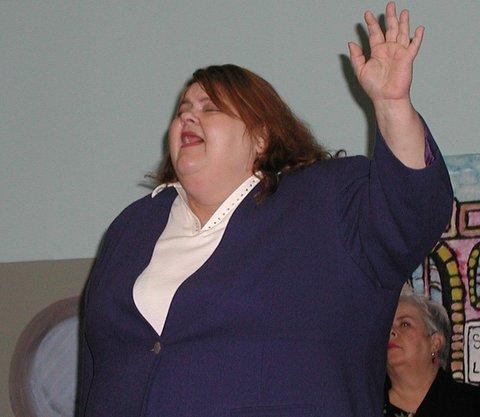 "Kathey Berman singing, ""I've Got the Supreme Court Blues."""